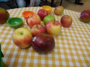 Fresh apples were used to make wholesome apple sauce